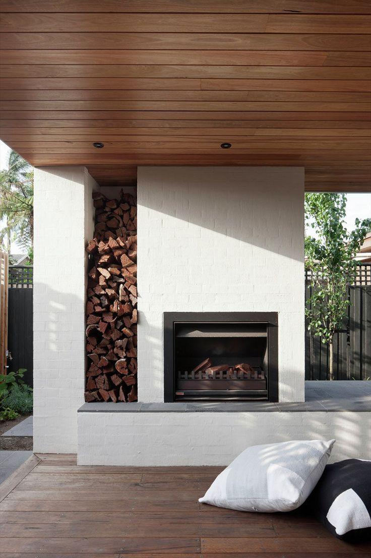 Best 25 Modern Outdoor Fireplace Ideas On Pinterest