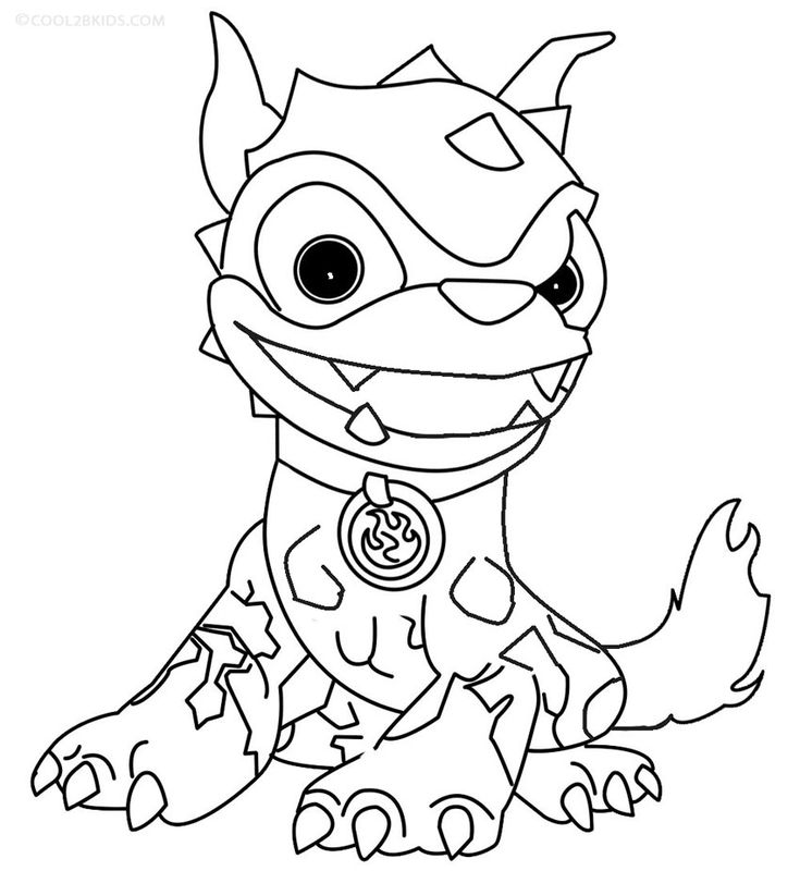 20 best images about printables *4 skylanders color pages