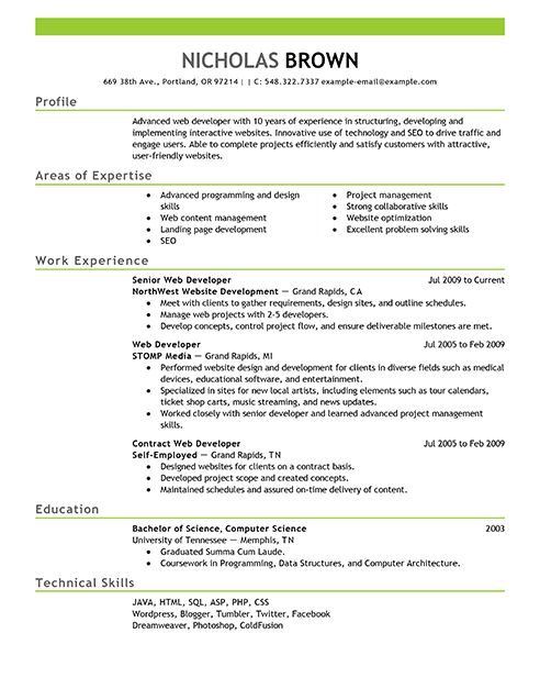 Examples Of Resume Profile Section. Profile Profile Section Of