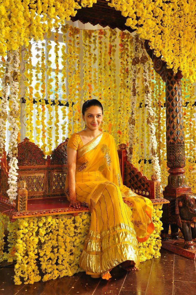 fresh chrysanthemum flower decorated swing perfect mehndi