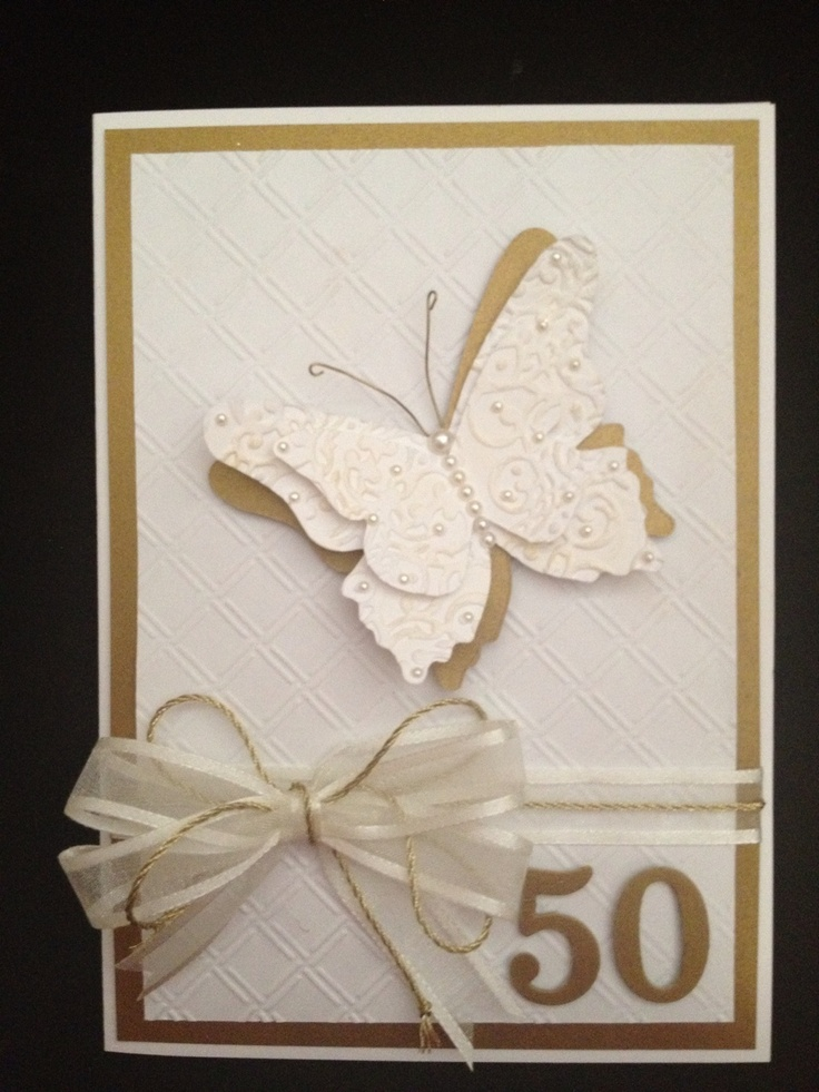 50th Anniversary card Crafts Pinterest 50th