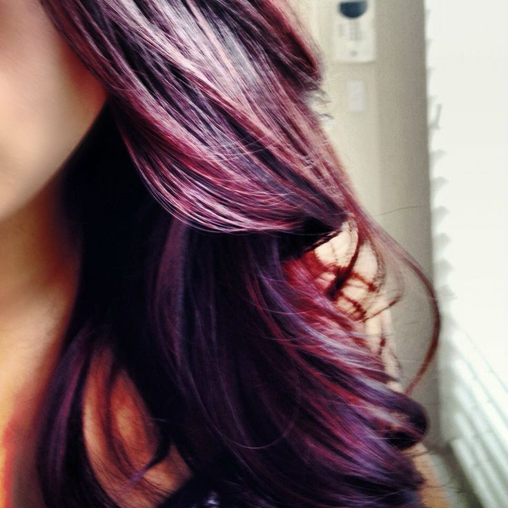 Color for Fall: burgundy plum with a dark base
