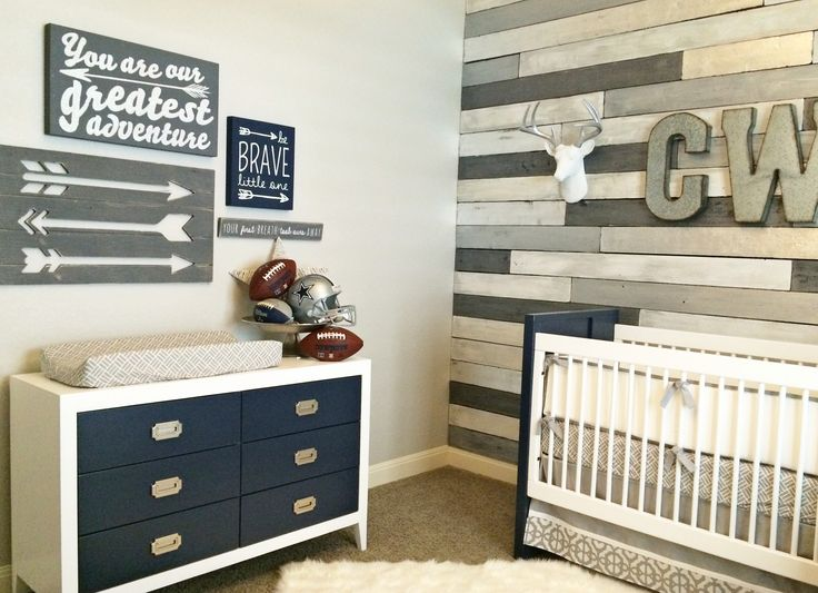 On-trend Baby Boy Nursery – loving the arrows and faux taxidermy accents!