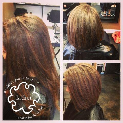 From Long Brunette Hair To A Long Bob Haircut Short Hair