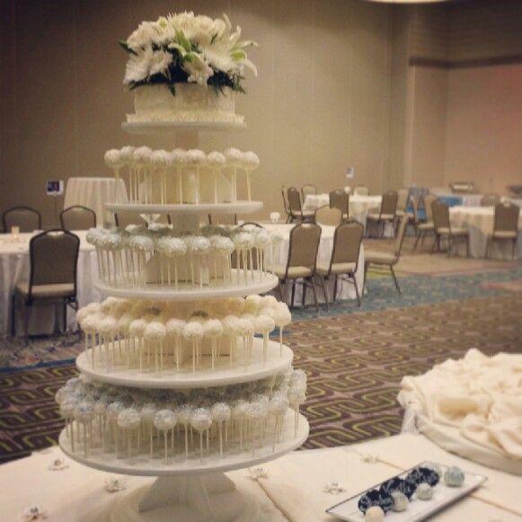 Wedding Cake Pop Stand Cake Pops Pinterest Wedding