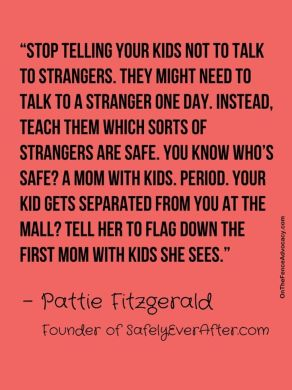 """Child safety and how you should teach your kids about tricky people. """"Tricky"""" is the new """"stranger"""" term."""