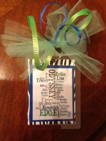@Dawn Nudi: Sammy would love this!  Cheerleading bag tag
