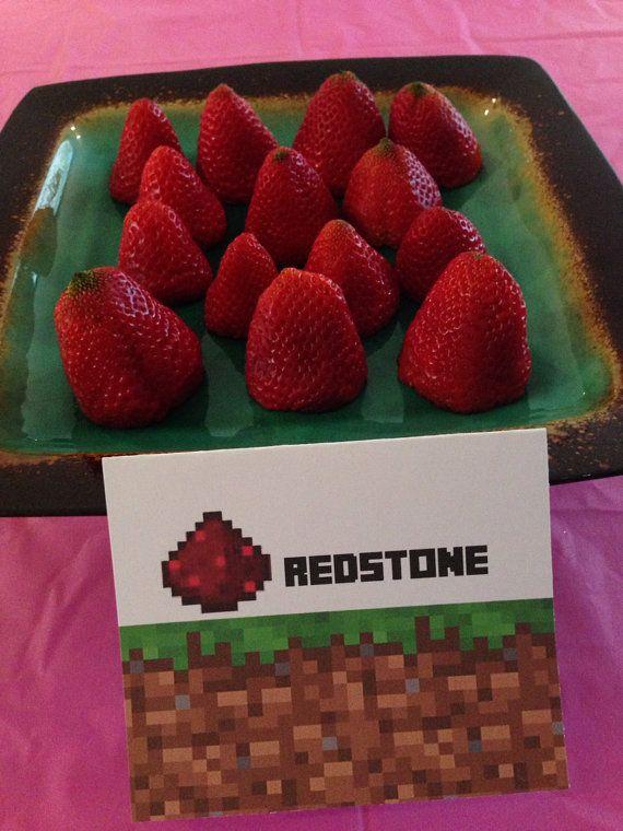 Fresa para fiesta Minecraft