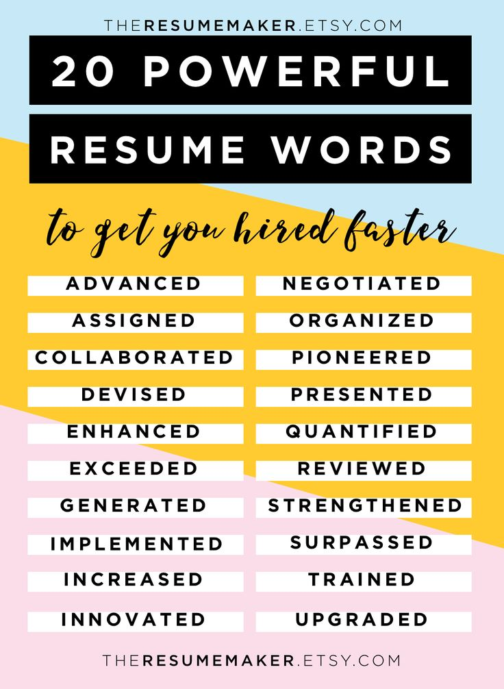 1000 ideas about resume words on pinterest resume help college