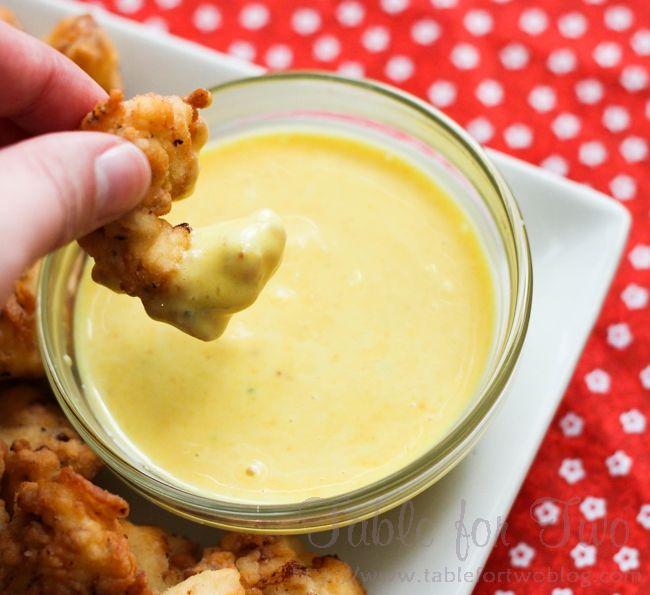 Chick-fil-a sauce: 1/2 cup mayo, 2 tbsp. mustard, 1/2 tsp. garlic powder, 1 tbsp