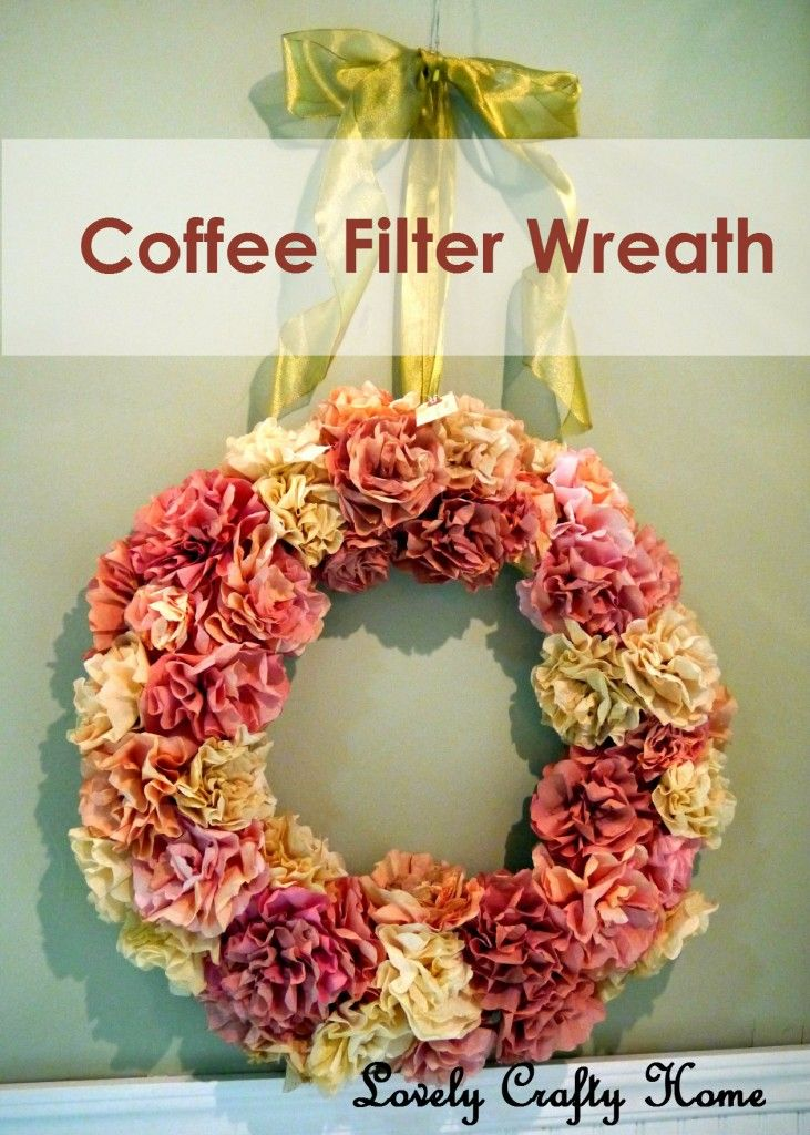 Coffee filter wreath, could