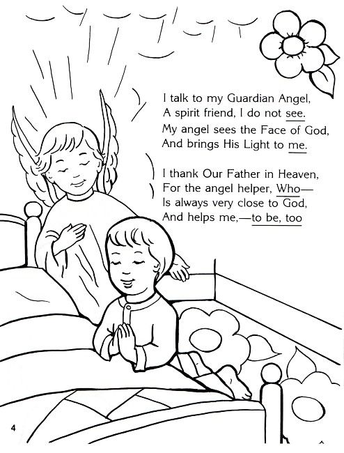 angel coloring page prep ideas pinterest guardian angels