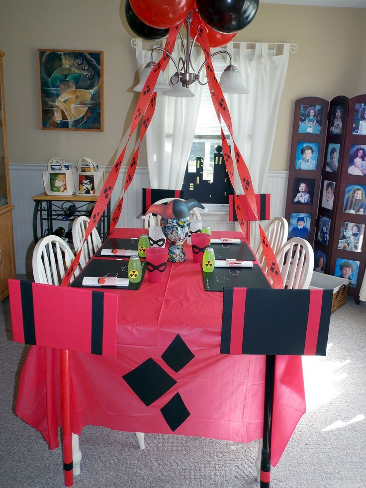 Harley Quinn Plus Comics Themed Birthday Party Ideas Free