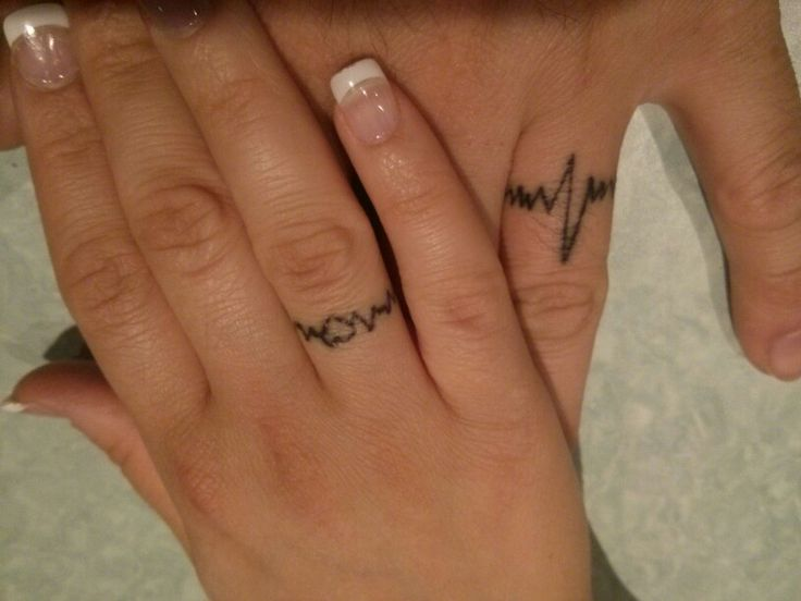 Our Wedding Tattoos Ring Tattoo Ideas Pinterest