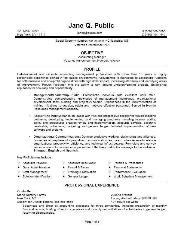 Federal Job Resume Sample Volumetrics Co Go Government How To