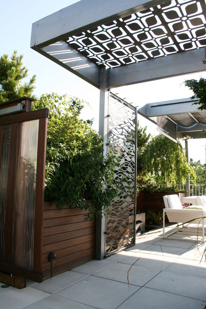 Metal pergola screen for shade and design Architecture