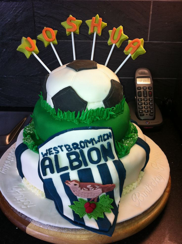 Football Themed Birthday Cake West Bromwich Albion Cakes