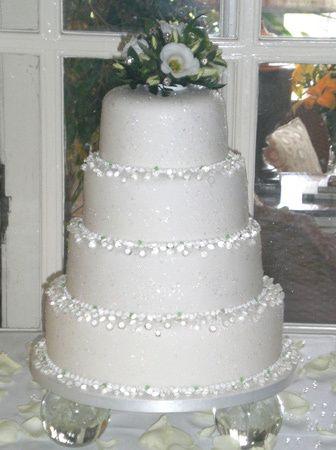 EDIBLE SUGAR DIAMONDS Wedding Cake Jewelry Decoration