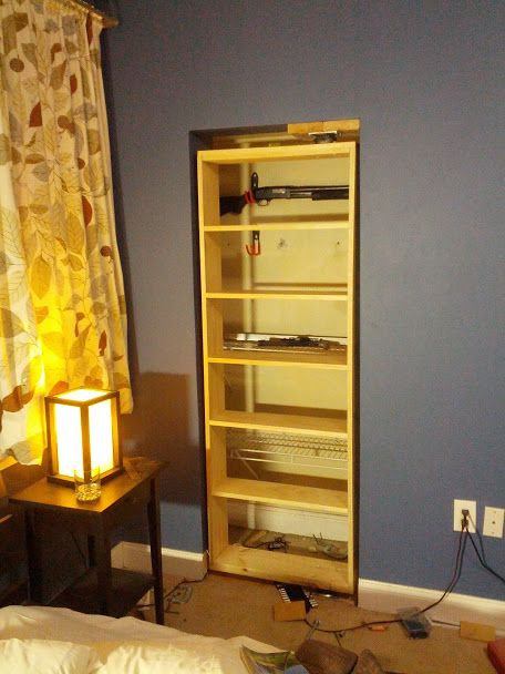 Build Your Own Hidden Gun Cabinet WoodWorking Projects
