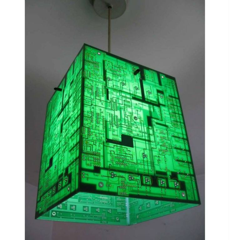 Recycled circuit board light brilliant ideas