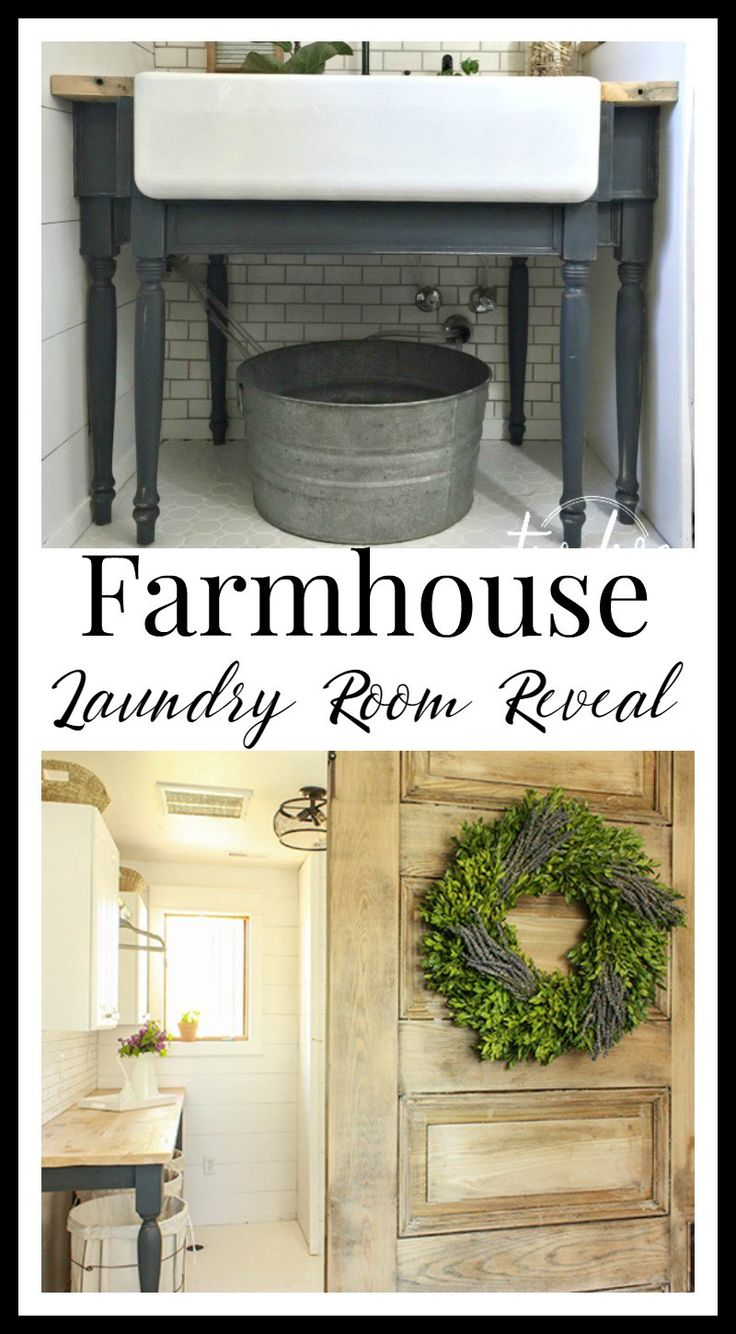 One Room Challenge Farmhouse Laundry Room Reveal Metal