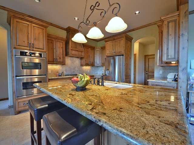 Beautiful Knotty Alder Wood Cabinets With Pecan Stain And