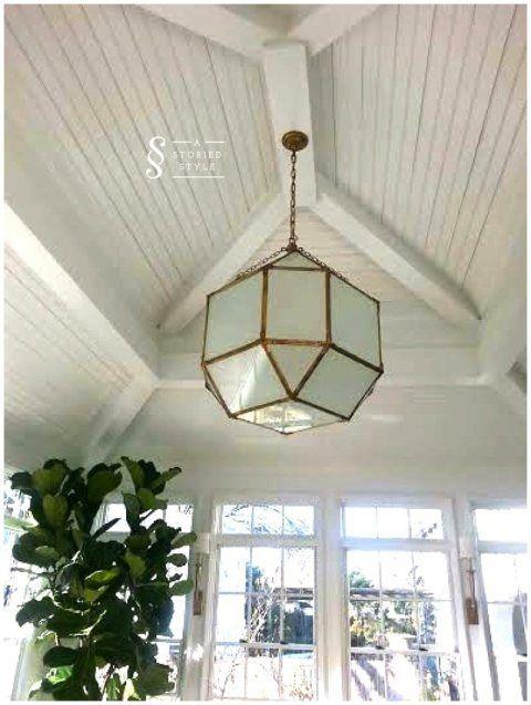 A Favorite Light Fixture Set Against Beautiful Ceiling Detailing Visual Comfort Morris Lantern
