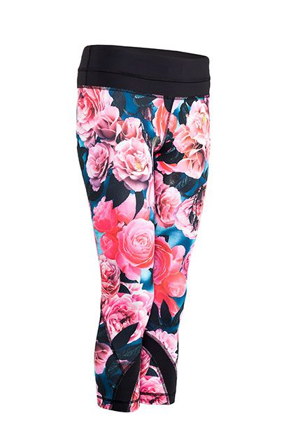 Put an extra spring in your stride when you wear Lululemons bold floral-printed Run Inspire Crops II from Lululemon. All of their