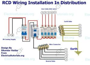 RCD Wiring Installation In Single Phase Distribution Board