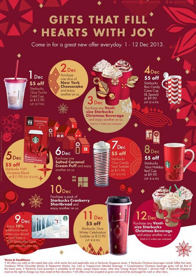 Starbucks christmas, 12 days and Starbucks on Pinterest