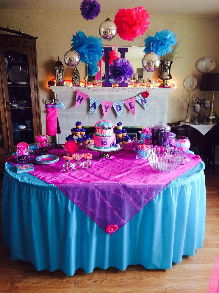 Girls 10th birthday party Party Ideas Pinterest 10th