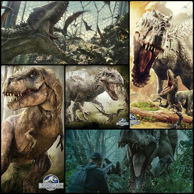 Jurassic World Indominus Rex and the original queen TRex