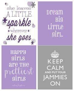 4 frames…. add a little glitter! Little girls room?! :)