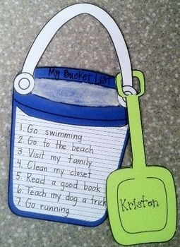 An end of the year writing activity to set   summer break goals – how cute is this! … would be a fun act