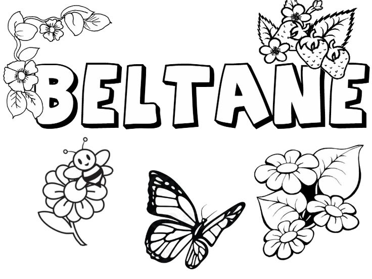 beltane collection  little pagan acorns  coloring page