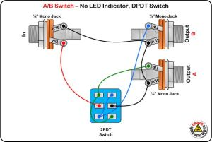 AB Switch Wiring Diagram, No LED, DPDT Switch | DIY
