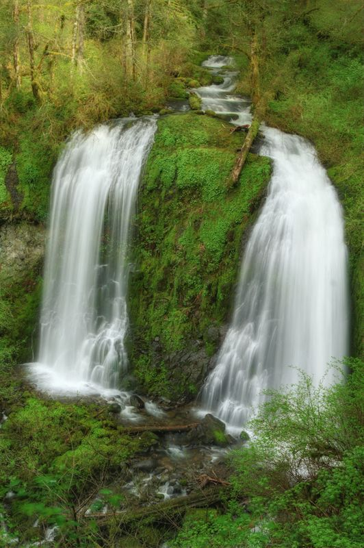 Double Waterfall Upper McCord Creek Falls Columbia