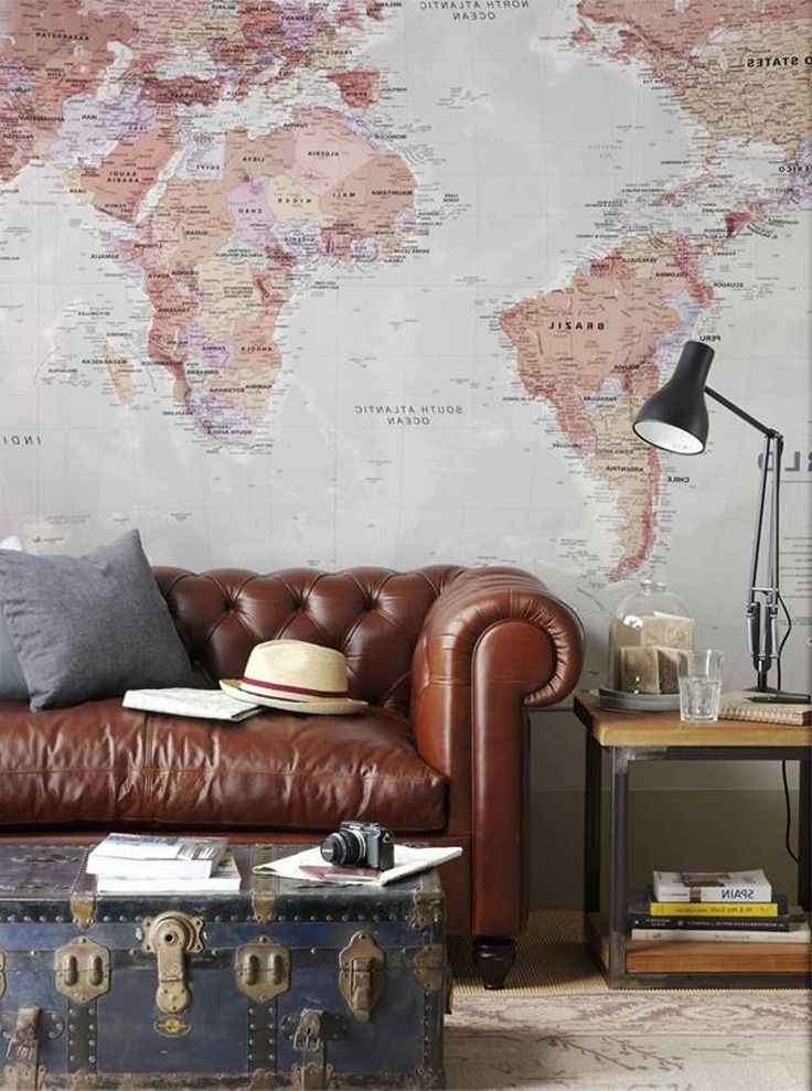 World Map Wall - Wallpapers For Your Home. I would put this in my library or study :)