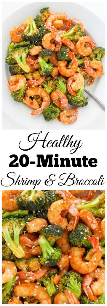 20-Minute Skinny Sriracha Shrimp and Broccoli – this delicious restaurant quality meal is ready SO fast!