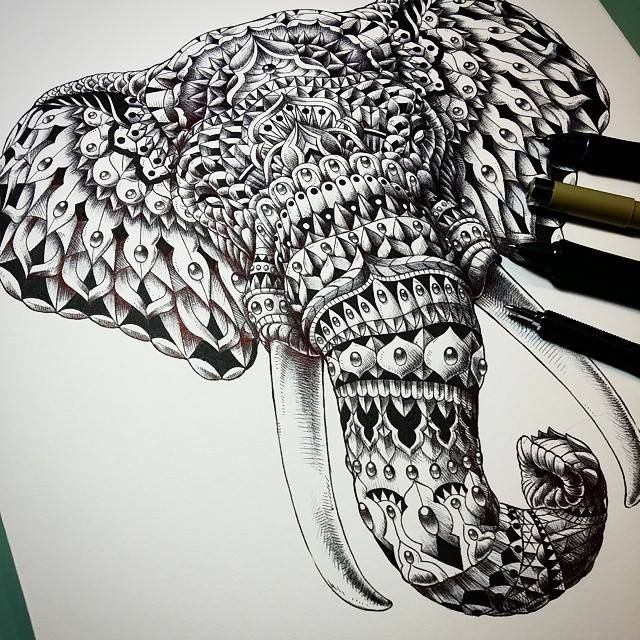 Ornate Elephant Head By BioWorkZ On DeviantArt Beauty