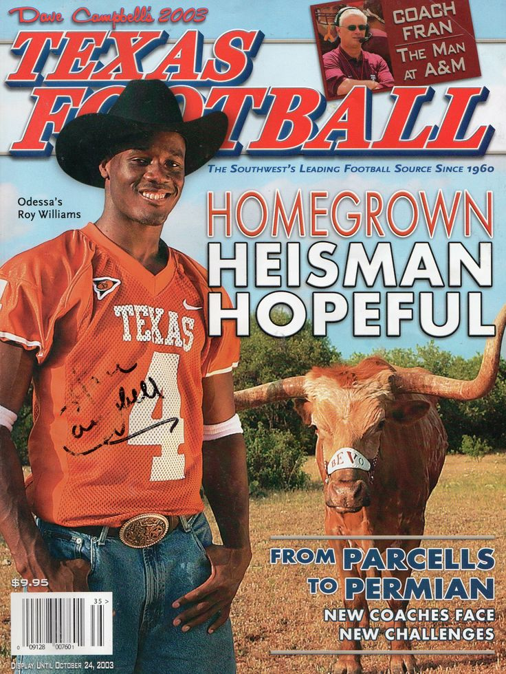 Dave Campbell's Texas Football's 2003 cover featuring