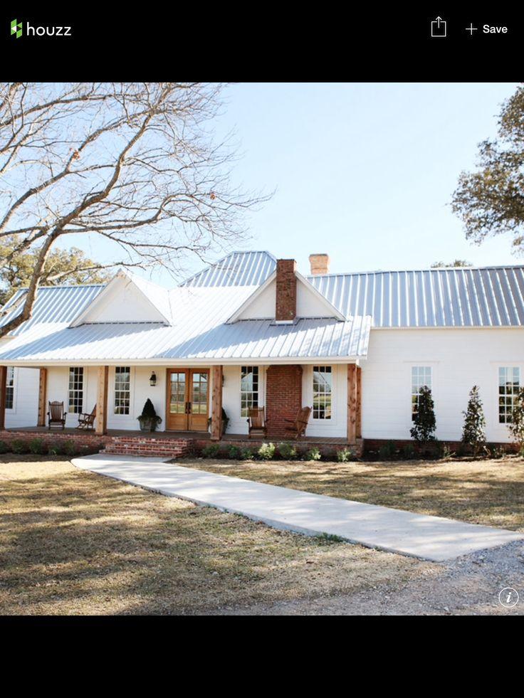 Throughfastened bare galvalum. I love the old farmhouse
