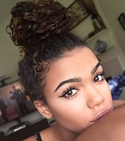 the curly bun other styles you need to try for your natural curly hair hair inspo pinterest