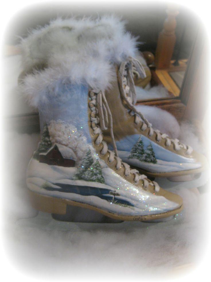 Best 25 Painted Ice Skates Ideas On Pinterest The Skate