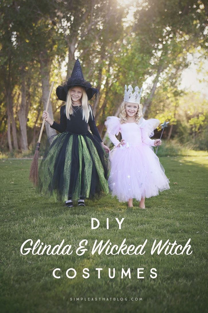 DIY Glinda and Wicked Witch of the West Costumes Dr. oz
