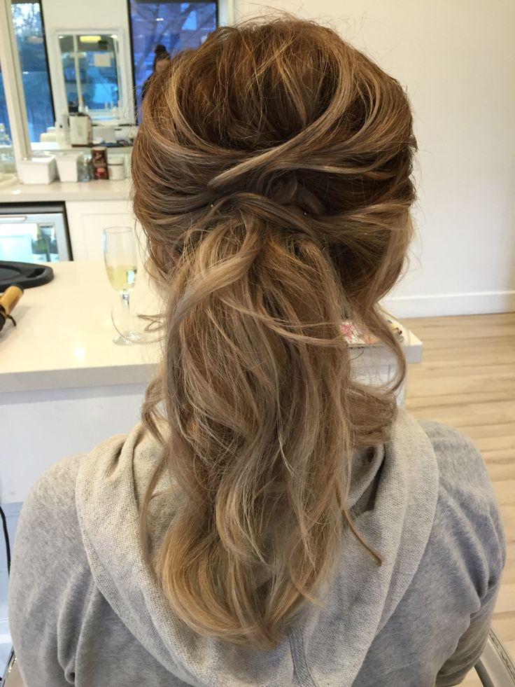 1000 Ideas About Bridesmaid Ponytail On Pinterest Curly