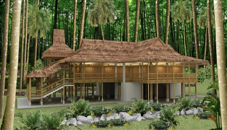 Bamboo Houses Philippines When Complete The Kerith