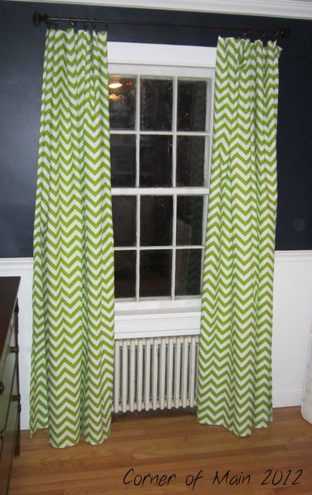Lime Green Chevron Curtains I Like The Way They Look Against Dark Grey