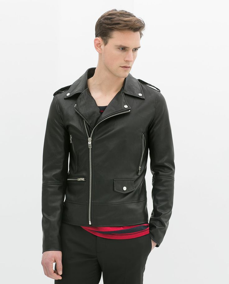 Image 2 Of FAUX LEATHER BIKER JACKET From Zara Men