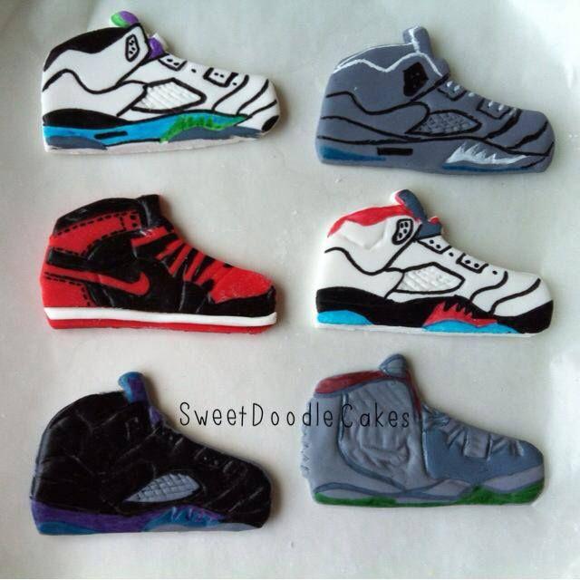 Nike Air Jordan Fondant Cupcake Toppers Sweetdoodlecakes